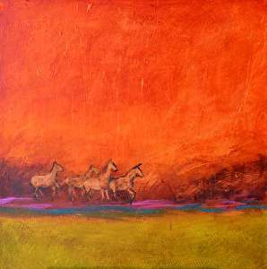 "On the Range by Filomena Booth Acrylic ~ 30"" x 30"""