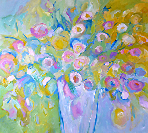 """Scent of Spring by Filomena Booth Acrylic ~ 36"""" x 36"""""""