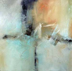 "All That Echoes by Filomena Booth Acrylic ~ 30"" x 30"""