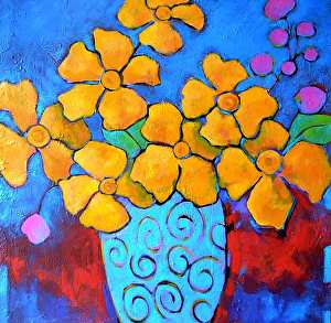 "Celebrate by Filomena Booth Acrylic ~ 36"" x 36"""