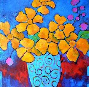 "Celebrate by Filomena Booth Acrylic ~ 36"" x 36"""
