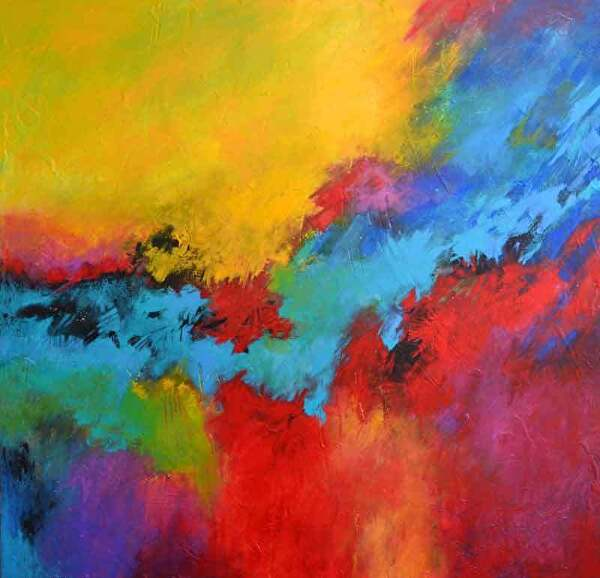 "Bring the Dawn by Filomena Booth Acrylic ~ 40"" x 40"""