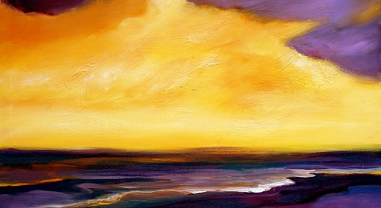 "Golden Sunset by Filomena Booth Acrylic ~ 24"" x 36"""