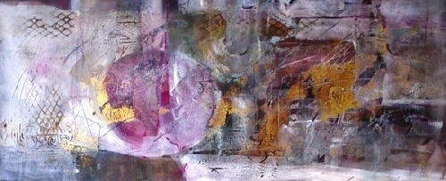 "Earth in the Balance by Filomena Booth Mixed ~ 20"" x 40"""