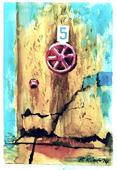 Valve No. 5 - watercolor and ink