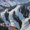 A Basin, November Skiing plein Air