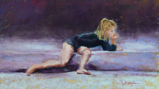 "Melody Bogle ""Meredith At Gymnastics Class""  Honorable Mention by  Pastel Society of North Florida Pastel ~  x"