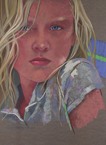 "Vickie Bailey Ebbers ""Morgan, The Look"" by  Pastel Society of North Florida Pastel ~  x"