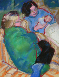 "Terry E. Powers ""Cozy Talk"" by  Pastel Society of North Florida Pastel ~  x"
