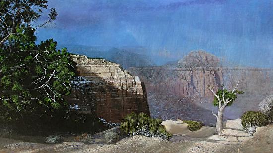 Snow Squalls Over Coronado Butte - Acrylic