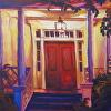 Light on a Red Door