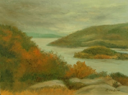 "Stormy October by Phyllis Tarlow Oil ~ 9 "" x 12"""