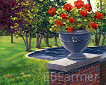 Flower Urn by Elaine Farmer Oil ~ 8 x 10