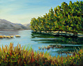 Quiet Mountain Lake by Elaine Farmer Oil ~ 8 x 10