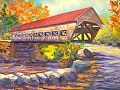 Albany Covered Bridge by Elaine Farmer Oil ~ 9 x 12