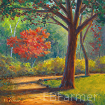 Path in the Park by Elaine Farmer Oil ~ 8 x 8
