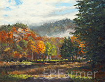 Path at Thorne Pond by Elaine Farmer Oil ~ 11 x 14