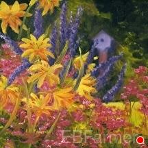 In Harmony by Elaine Farmer Oil ~ 8 x 8