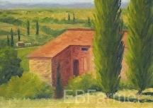 Italy View by Elaine Farmer Oil ~ 5 x 7
