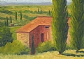 Italy View by Elaine Farmer Oil ~ 5 x 7
