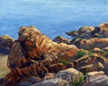 Marblehead Jewel study by Elaine Farmer Oil ~ 8 x 10