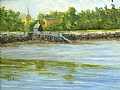 Portsmouth Pier by Elaine Farmer Oil ~ 6 x 8