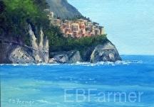 Riomaggiore by Elaine Farmer Oil ~ 5 x 7