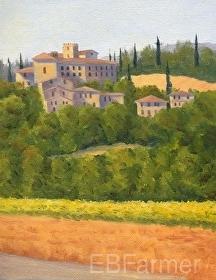 Tuscan Manor II by Elaine Farmer Oil ~ 8 x 6