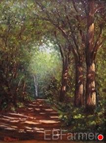 Path Less Traveled by Elaine Farmer Oil ~ 12 x 9