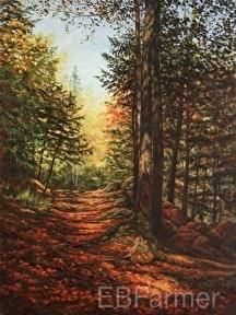 Uphill Path by Elaine Farmer Oil ~ 24 x 18