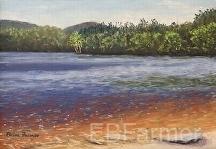 Transparent Waters Massabesic Lake by Elaine Farmer Pastel ~ 6 x 8.5 image size