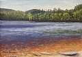 Transparent Waters Massabesic Lake by Elaine Farmer Pastel ~ 6 x 8.5 image size