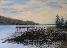 Forgotten Pier by Elaine Farmer Pastel ~ 8 x 11 image size