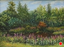 Loosestrife by Elaine Farmer Oil ~ 9 x 12