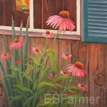Echinecea by Elaine Farmer Oil ~ 12 x 12