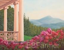 St. Gauden's Porch View by Elaine Farmer Oil ~ 11 x 14