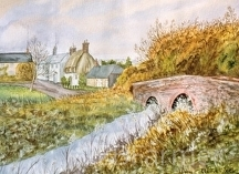 Lower Bockhampton by Elaine Farmer Watercolor ~ 11 x 15