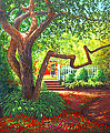 Old Tree at Prescott Park by Elaine Farmer Oil ~ 24 x 20
