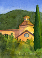 Italy building by Elaine Farmer Watercolor ~  x