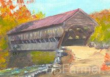 Albany bridge 52 by Elaine Farmer Oil ~ 2.5 x 3.5