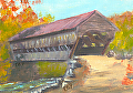 Albany bridge 52 by Elaine Farmer Oil ~ 2.5 x 3.5