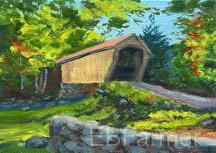 Corbin Bridge by Elaine Farmer Oil ~  x