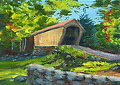 Corbin Bridge by Elaine Farmer Oil ~  x