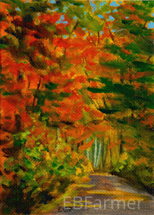 Autumn Path by Elaine Farmer Oil ~  x