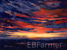 Sunset over Marsh by Elaine Farmer Oil ~ 9 x 12