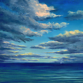 Late Day Clouds by Elaine Farmer Oil ~ 8 x 8