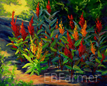 Spike Flowers by Elaine Farmer Oil ~ 8 x 10