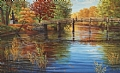 Water Under the Bridge by Elaine Farmer Oil ~ 13 x 21