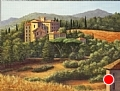 Tuscan Manor by Elaine Farmer Oil ~ 12 x 16