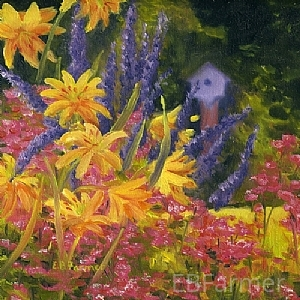 In Harmony by Elaine Farmer Oil ~ 8 x 8